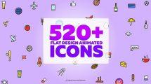 پروژه افترافکت مجموعه انیمیشن وکتور Vector Animated Icons