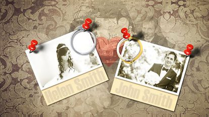 پروژه افترافکت آلبوم عکس عروسی Wedding Photo Album