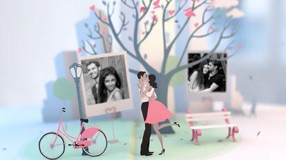 پروژه افترافکت نمایش آلبوم عکس عروسی Wedding Pop Up Album