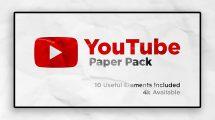 پروژه افترافکت اجزای ویدیویی کانال یوتیوب Youtube Channel Pack