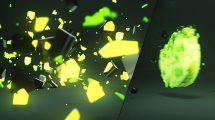 پروژه افترافکت نمایش لوگو با قطعات شکسته 3D Light Shatter Logo