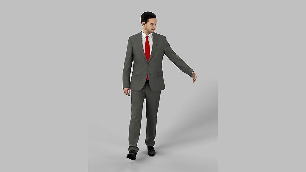 مدل سه بعدی کاراکتر مرد با کت شلوار Business Man Walking