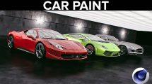 مجموعه متریال رنگ ماشین برای سینمافوردی Cinema 4D Car Paint