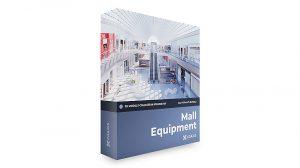 مجموعه مدل سه بعدی تجهیزات پاساژ CGAxis Models Volume 107 Mall