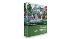 مجموعه مدل سه بعدی دکوراسیون باغ CGAxis Models Volume 108 Garden