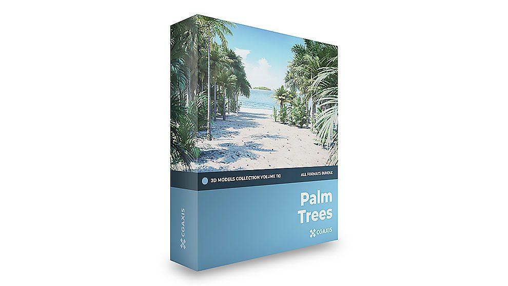 مجموعه مدل سه بعدی سالن درخت نخل CGAxis Models Volume 110 Palm
