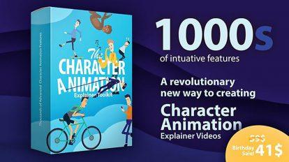 پروژه افترافکت ساخت موشن گرافیک با کاراکتر Character Animation