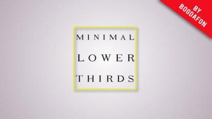 پروژه افترافکت عناوین زیرنویس مینیمال Clean Minimal Lower Thirds