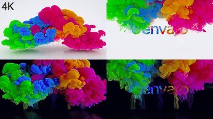 پروژه افترافکت نمایش لوگو با دودهای رنگی Color Blast Logo