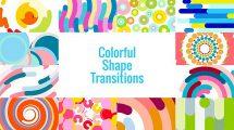 پروژه افترافکت مجموعه ترانزیشن با اشکال رنگی Colorful Shape Transitions