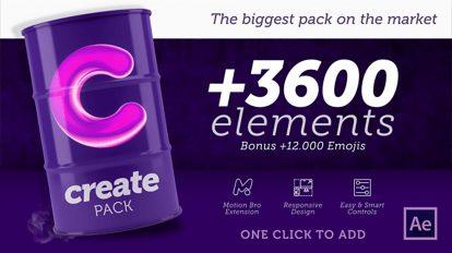 پروژه افترافکت اجزای ساخت موشن گرافیک Create Pack