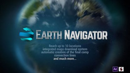 پروژه افترافکت نمایش موقعیت روی کره زمین Earth Navigator