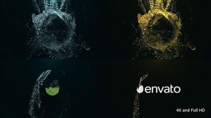 پروژه افترافکت نمایش لوگو حماسی در آب Epic Water Logo