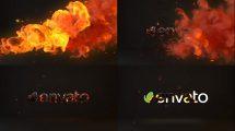 پروژه افترافکت نمایش لوگو با آتش Fire Logo