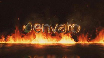 پروژه افترافکت نمایش لوگو آتشین Fire Logo