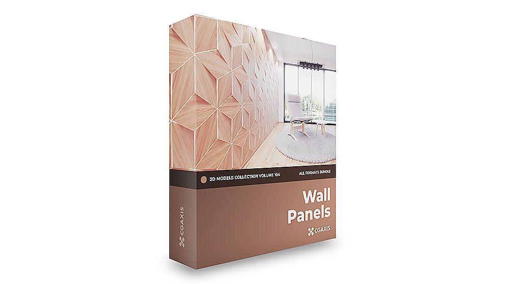 مجموعه مدل سه بعدی پنل های دیواری CGAxis Models Volume 104 Wall