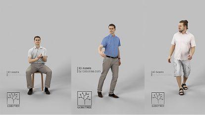 مجموعه مدل سه بعدی انسان Gobotree People 82