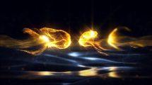پروژه افترافکت نمایش لوگو با ذرات طلایی Gold Particles Logo