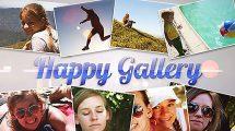 پروژه افترافکت گالری عکس Happy Gallery
