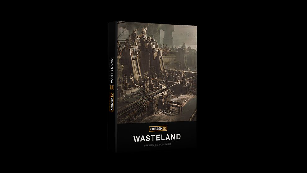 مجموعه مدل سه بعدی سرزمین مخروبه Kitbash3D Wasteland