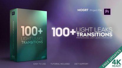 پروژه پریمیر مجموعه ترانزیشن با افکت نور Light Leaks Transitions