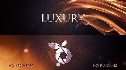 پروژه افترافکت نمایش لوگو لوکس Luxury Logo Intro