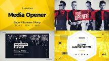 پروژه افترافکت تیزر افتتاحیه کسب و کار Media Opener