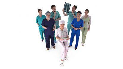 مجموعه مدل سه بعدی انسان پزشک Medical Collection x7