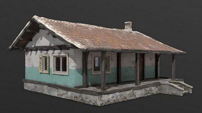 مدل سه بعدی خانه روستایی Old Country House