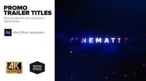 پروژه افترافکت نمایش عناوین تریلر Promo Trailer Titles