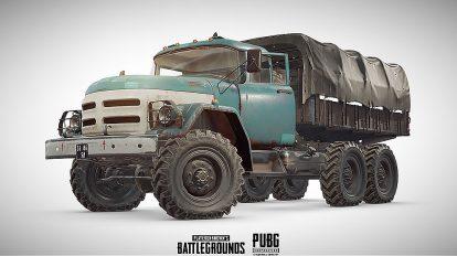 مدل سه بعدی کامیون قدیمی PUBG Truck