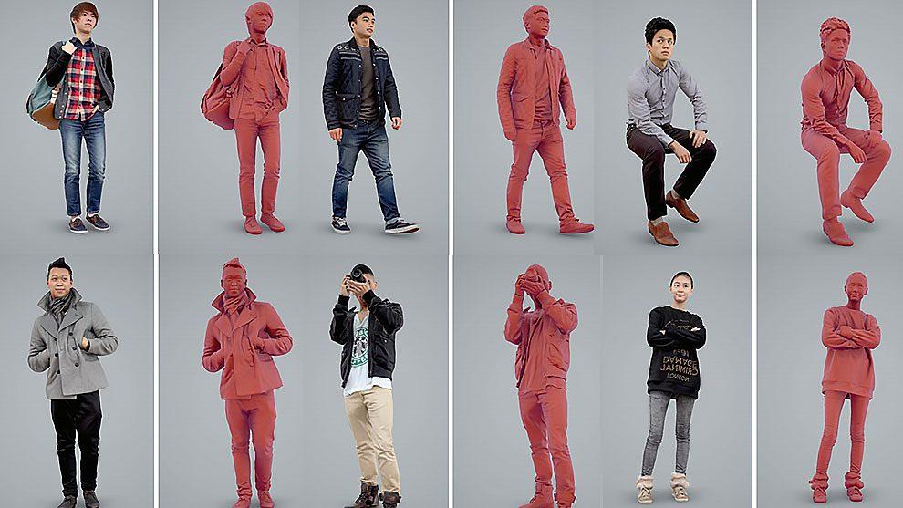 مدل سه بعدی کاراکتر مرد و زن آسیایی Ready Posed 3D Humans Asian