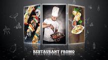 پروژه افترافکت تیزر تبلیغاتی رستوران Restaurant Promo