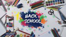 پروژه افترافکت استاپ موشن با موضوع مدرسه School Stop Motion