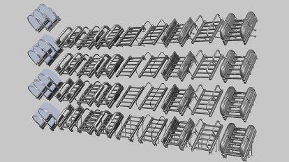 مدل سه بعدی پله Sci-Fi Stairs Basic Version