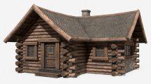 مدل سه بعدی خانه چوبی ساده Simple Wooden House