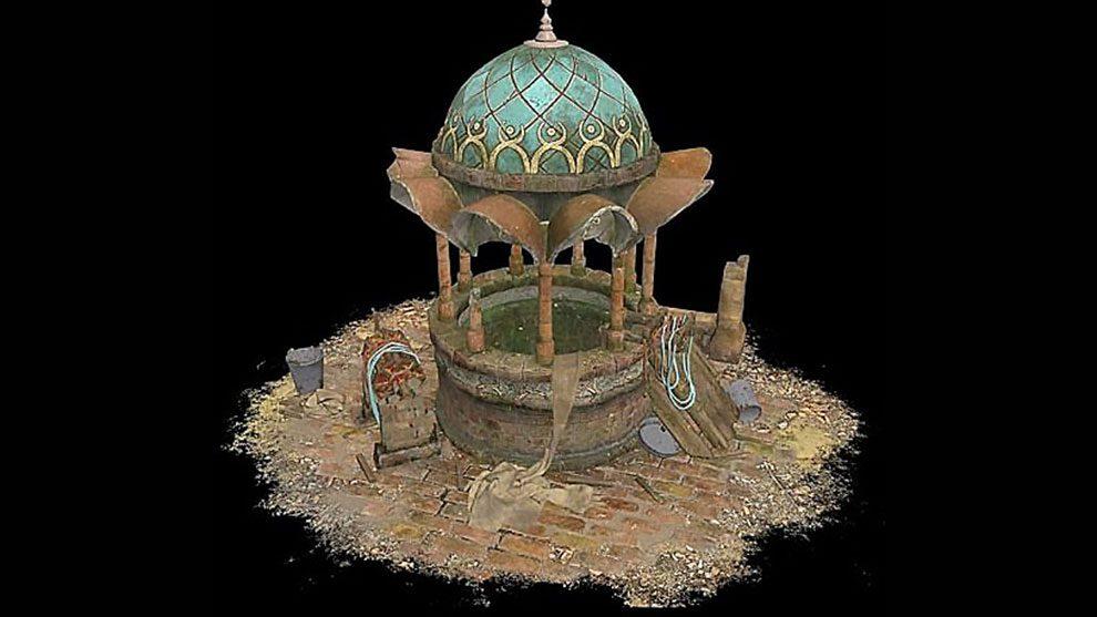 مدل سه بعدی چشمه سنگی Stone Well