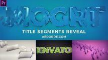 پروژه پریمیر نمایش لوگو Title Segments Reveal
