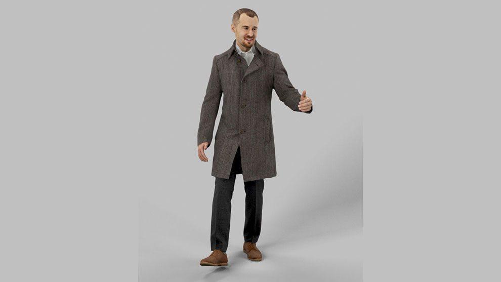 مدل سه بعدی کاراکتر مرد Walking Business Man