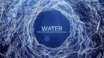 پروژه افترافکت نمایش عناوین با موشن آب Water Inspirational Titles