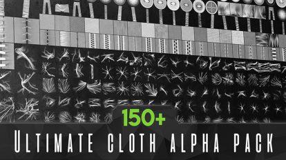 مجموعه تصاویر آلفا برای مدلسازی لباس Ultimate Cloth Alpha Pack