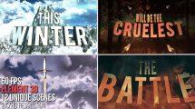 پروژه افترافکت نمایش عناوین سینمایی 3D Cinematic Titles