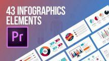 پروژه پریمیر مجموعه 43 المان اینفوگرافیک Infographics Elements