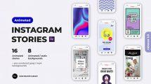 پروژه افترافکت مجموعه استوری اینستاگرام Animated Instagram Stories
