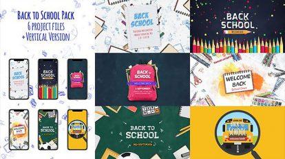 پروژه افترافکت افتتاحیه بازگشت به مدرسه Back to School Package