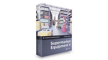 مجموعه مدل سه بعدی تجهیزات سوپرمارکت CGAxis Models Volume 112