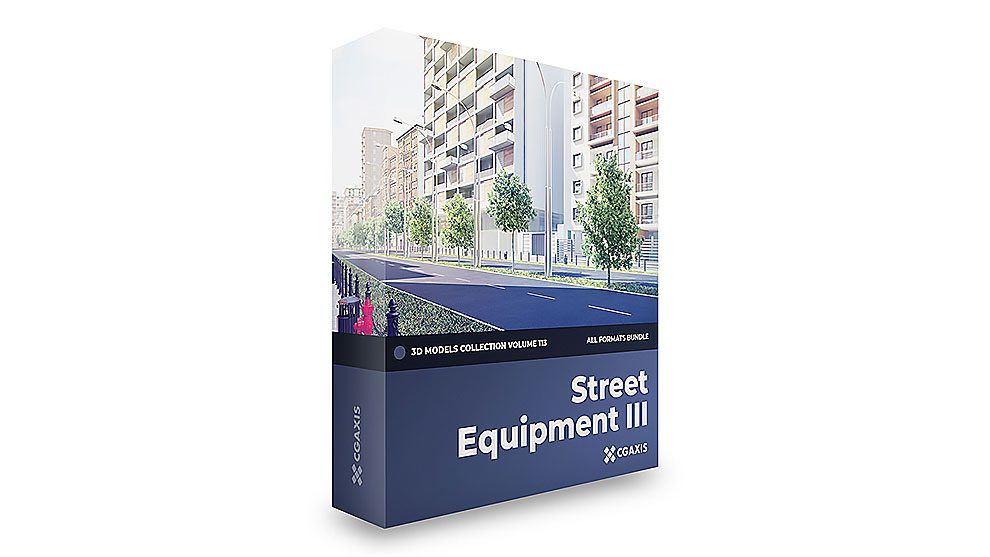 مجموعه مدل سه بعدی اجزای خیابان CGAxis Models Volume 113 Street