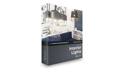 مجموعه مدل سه بعدی چراغ های داخلی CGAxis Models Volume 114 Interior