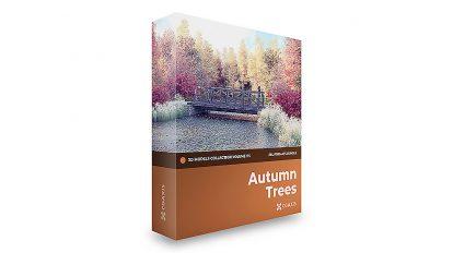 مجموعه مدل سه بعدی درختان پاییزی CGAxis Models Volume 115 Autumn