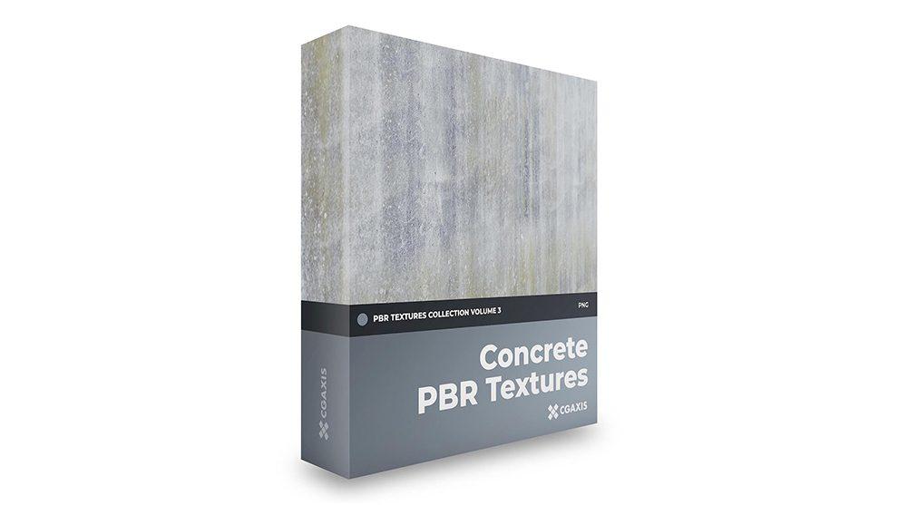 مجموعه تکسچر واقعگرایانه بتن CGAxis PBR Textures Volume 3 Concrete
